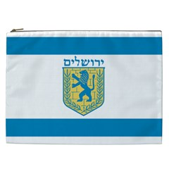 Flag Of Jerusalem Cosmetic Bag (xxl)  by abbeyz71
