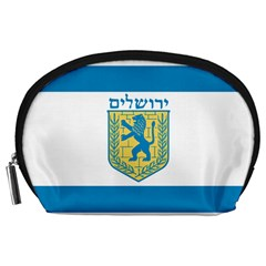 Flag Of Jerusalem Accessory Pouches (large)  by abbeyz71