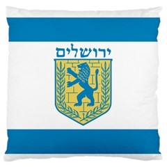 Flag Of Jerusalem Standard Flano Cushion Case (one Side) by abbeyz71