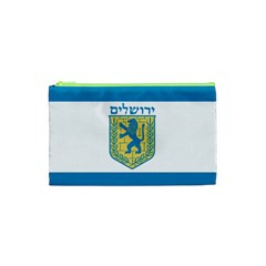 Flag Of Jerusalem Cosmetic Bag (xs) by abbeyz71
