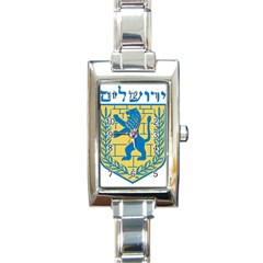 Coat Of Arms Of Jerusalem Rectangle Italian Charm Watch by abbeyz71