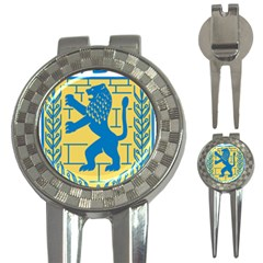 Coat Of Arms Of Jerusalem 3 In 1 Golf Divots by abbeyz71
