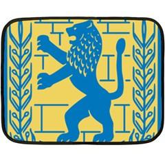 Coat Of Arms Of Jerusalem Double Sided Fleece Blanket (mini)  by abbeyz71