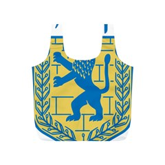 Coat Of Arms Of Jerusalem Full Print Recycle Bags (s)  by abbeyz71