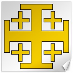 Jerusalem Cross Canvas 12  X 12   by abbeyz71