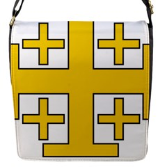 Jerusalem Cross Flap Messenger Bag (s) by abbeyz71