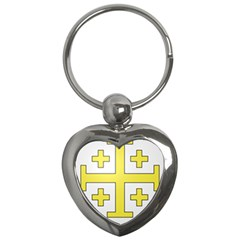 The Arms Of The Kingdom Of Jerusalem  Key Chains (heart)  by abbeyz71
