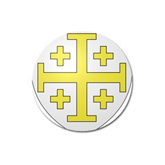 The Arms Of The Kingdom Of Jerusalem  Magnet 3  (round) by abbeyz71
