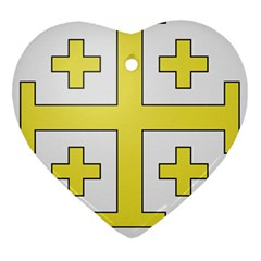 The Arms Of The Kingdom Of Jerusalem  Heart Ornament (two Sides) by abbeyz71