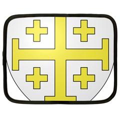 The Arms Of The Kingdom Of Jerusalem  Netbook Case (xxl)  by abbeyz71