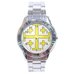 The Arms Of The Kingdom Of Jerusalem  Stainless Steel Analogue Watch by abbeyz71