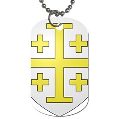 The Arms Of The Kingdom Of Jerusalem Dog Tag (two Sides) by abbeyz71