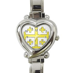 The Arms Of The Kingdom Of Jerusalem Heart Italian Charm Watch by abbeyz71