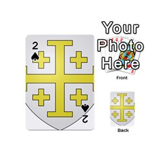 The Arms Of The Kingdom Of Jerusalem Playing Cards 54 (mini)  by abbeyz71