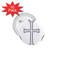 Anchored Cross  1 75  Buttons (10 Pack) by abbeyz71