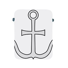 Anchored Cross  Apple Ipad 2/3/4 Protective Soft Cases by abbeyz71
