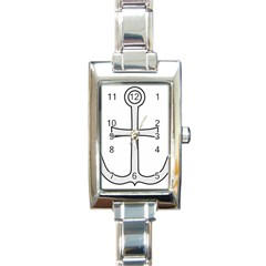 Anchored Cross Rectangle Italian Charm Watch by abbeyz71