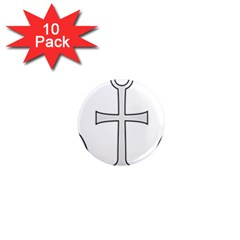 Anchored Cross 1  Mini Magnet (10 Pack)  by abbeyz71