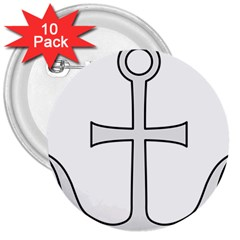 Anchored Cross 3  Buttons (10 Pack)  by abbeyz71