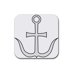 Anchored Cross Rubber Square Coaster (4 Pack)  by abbeyz71