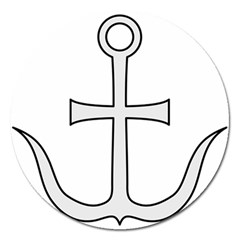 Anchored Cross Magnet 5  (round) by abbeyz71