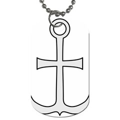 Anchored Cross Dog Tag (one Side) by abbeyz71