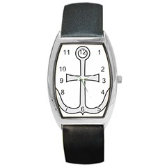 Anchored Cross Barrel Style Metal Watch by abbeyz71
