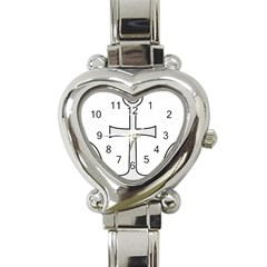 Anchored Cross Heart Italian Charm Watch by abbeyz71