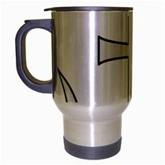 Anchored Cross Travel Mug (silver Gray) by abbeyz71
