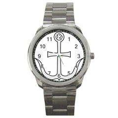 Anchored Cross Sport Metal Watch by abbeyz71