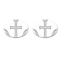 Anchored Cross Cufflinks (oval) by abbeyz71