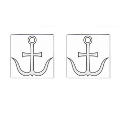 Anchored Cross Cufflinks (square) by abbeyz71