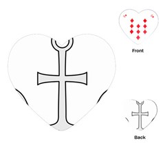 Anchored Cross Playing Cards (heart)  by abbeyz71