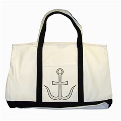Anchored Cross Two Tone Tote Bag by abbeyz71