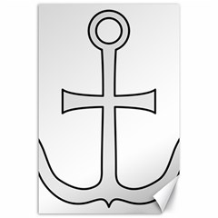 Anchored Cross Canvas 24  X 36  by abbeyz71