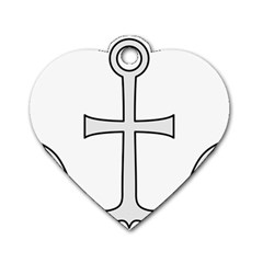 Anchored Cross Dog Tag Heart (one Side) by abbeyz71