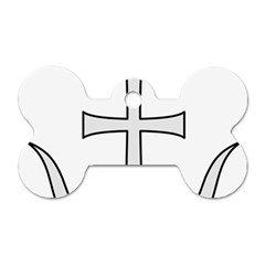 Anchored Cross Dog Tag Bone (two Sides) by abbeyz71