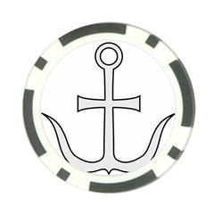 Anchored Cross Poker Chip Card Guard by abbeyz71
