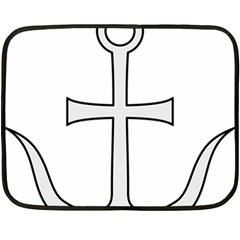 Anchored Cross Fleece Blanket (mini) by abbeyz71