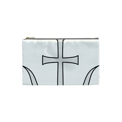 Anchored Cross Cosmetic Bag (small)  by abbeyz71