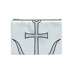 Anchored Cross Cosmetic Bag (medium)  by abbeyz71