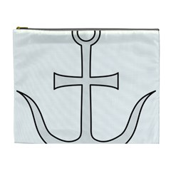 Anchored Cross Cosmetic Bag (xl) by abbeyz71