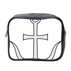 Anchored Cross Mini Toiletries Bag 2 Side by abbeyz71