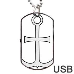 Anchored Cross Dog Tag Usb Flash (one Side) by abbeyz71