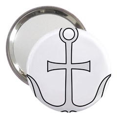 Anchored Cross 3  Handbag Mirrors by abbeyz71