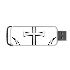Anchored Cross Portable Usb Flash (two Sides) by abbeyz71