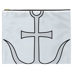 Anchored Cross Cosmetic Bag (xxxl)  by abbeyz71