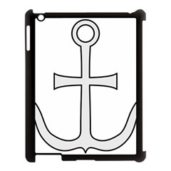 Anchored Cross Apple Ipad 3/4 Case (black) by abbeyz71