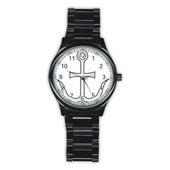 Anchored Cross Stainless Steel Round Watch by abbeyz71