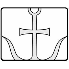 Anchored Cross Double Sided Fleece Blanket (medium)  by abbeyz71